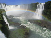 Rainbow di Iguassu Immagine Stock