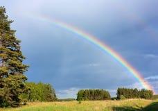 Rainbow di paesaggio Fotografia Stock Libera da Diritti