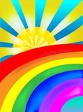 Rainbow di Sun Fotografia Stock