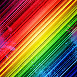 Rainbow diagonal stripes and colorful paint Stock Image