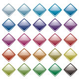 Rainbow diamond variation Royalty Free Stock Image
