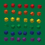 Rainbow Dice with Black Points royalty free illustration
