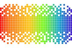 Rainbow digital background Stock Images
