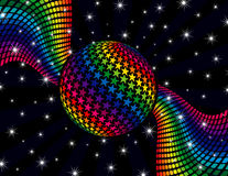 Rainbow Disco Background Royalty Free Stock Photo