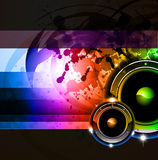 Rainbow Disco Background for Posters or Flyers Stock Image