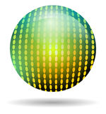 Rainbow disco ball isolated Stock Photos