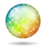 Rainbow disco ball isolated Stock Image