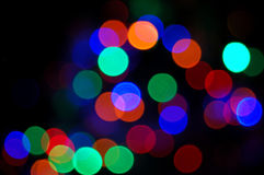 Rainbow disco lights Royalty Free Stock Photo