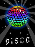 Rainbow Discoball illustrazione vettoriale