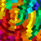 Rainbow Disks. Segmented disks in a rainbow of vibrant colors Vector Illustration
