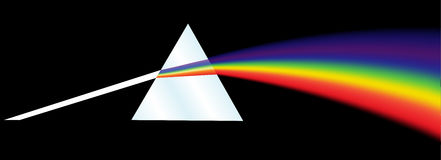 Rainbow Dispersion Prism. A dispersion prism illustration on a black background Royalty Free Stock Photography