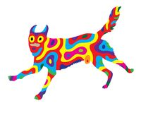 Rainbow Dog 1 Royalty Free Stock Photography