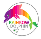 Rainbow dolphin. Royalty Free Stock Photo