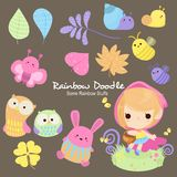 Rainbow Doodle Collection vector illustration