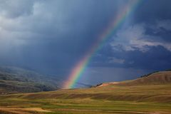Rainbow dopo la tempesta Fotografia Stock