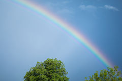 Rainbow dopo la tempesta Fotografia Stock Libera da Diritti