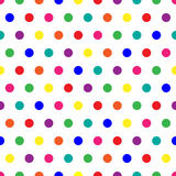 Rainbow Dots. Bright polka dots background in rainbow colors Royalty Free Stock Image