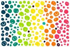 Rainbow dots background royalty free illustration