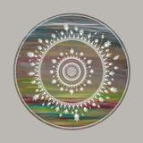 Rainbow dots mandala Royalty Free Stock Photo