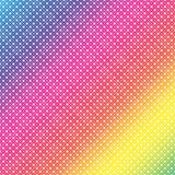 Vector Rainbow Dots background Stock Images