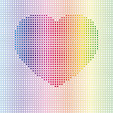 Rainbow dotted heart Royalty Free Stock Images