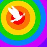 Rainbow dove Stock Images