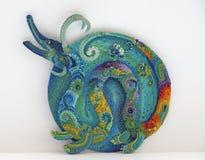 Rainbow dragon royalty free stock photo