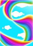 Rainbow drape Stock Photography