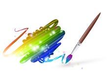 Rainbow drawing Stock Photo