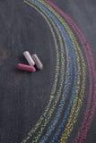 Rainbow drawn with chalk Stock Photography