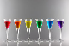 Rainbow drinks I Royalty Free Stock Photography