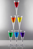 Rainbow drinks II Royalty Free Stock Image