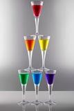 Rainbow drinks II royalty free stock image