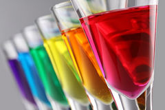 Rainbow drinks III stock photography