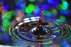 Rainbow drop. Fun with water and color Stock Photo
