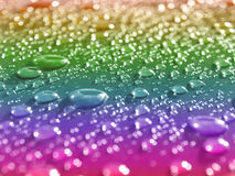 Rainbow droplets Royalty Free Stock Images