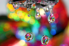 Rainbow drops. stock image