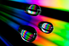 Rainbow drops Stock Photography