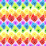 Rainbow drops seamless background. Rainbow drops or waves with circles Royalty Free Stock Photos