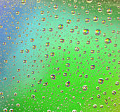 Rainbow Drops Water Rain Background Stock Photography