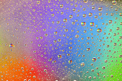 Rainbow Drops Water Rain Background Stock Image
