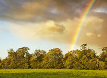 Rainbow in Dublin Ireland Royalty Free Stock Images