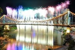 Rainbow e cascata a Riverfire Fotografie Stock Libere da Diritti