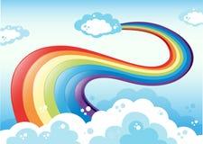 Rainbow e cielo Fotografia Stock