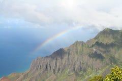 Rainbow e mare Fotografia Stock