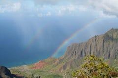 Rainbow e mare Immagine Stock Libera da Diritti