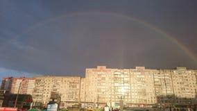 Rainbow e nube Immagini Stock Libere da Diritti