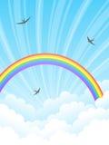 Rainbow e nubi. Immagini Stock Libere da Diritti