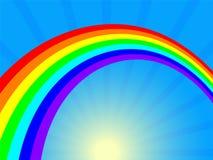 Rainbow e sole Fotografie Stock
