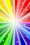 Rainbow e stelle Fotografia Stock